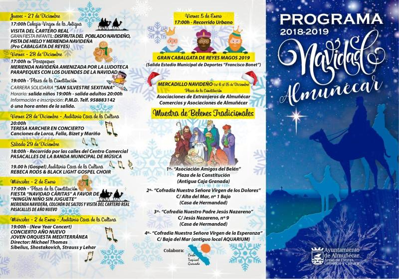 Almuñécar Christmas Program 2018 -2019