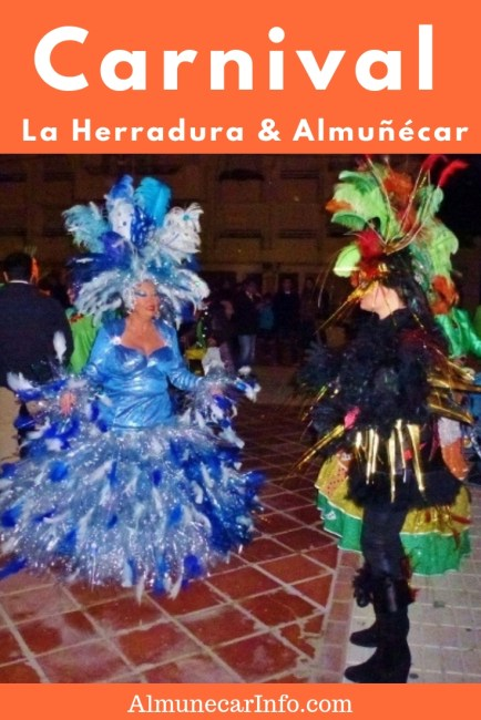 La Herradura and Almuñécar Carnival Costumes, masquerade, parades, singing, dancing, music, activities, food and drink.  This is what you will experience when you celebrate La Herradura & Almuñécar Carnival! Read more at Almunecarinfo.com