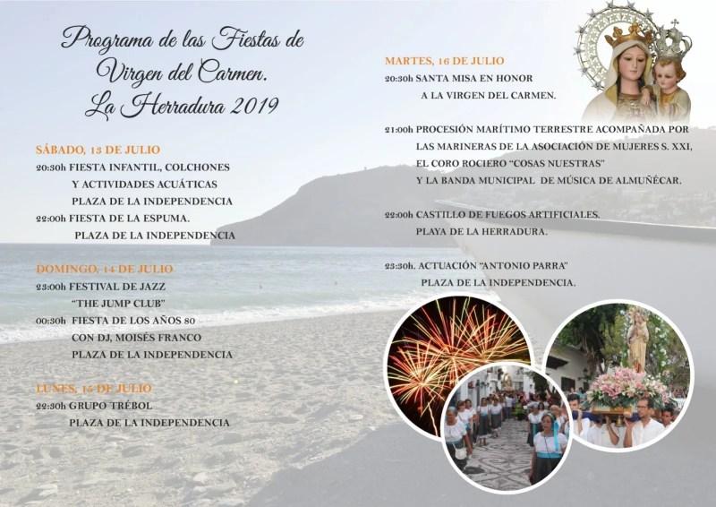 La Herradura Fiestas Virgen del Carmen 2019 schedule