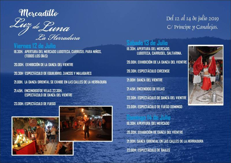 luz de luna La Herradura summer 2019 schedule