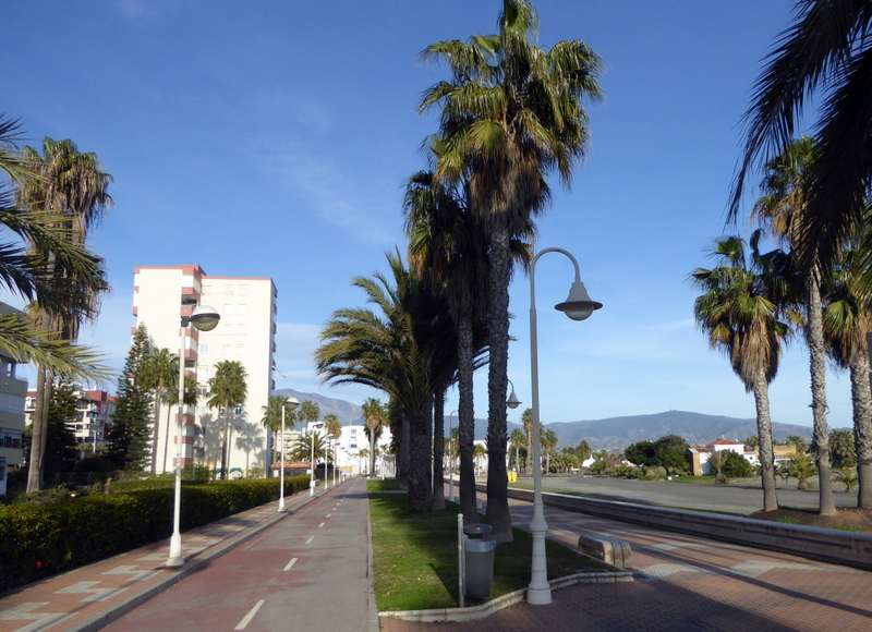Playa Granada Motril bike path and paseo