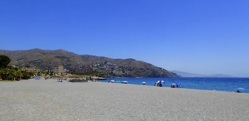 Velilla Beach to Salobrena views. Read more on Almunecarinfo.com