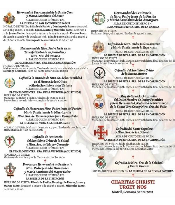 Motril Semana Santa Schedule 2021