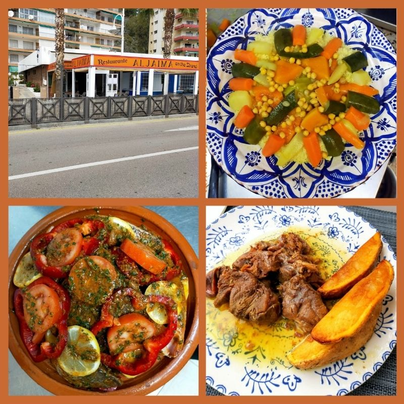 Aljaima on the Strand Velilla Moroccan food Almunecar. Read more about international restaurants on Almunecar Info https://almunecarinfo.com