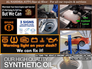 Car Repairs and services in Dubai