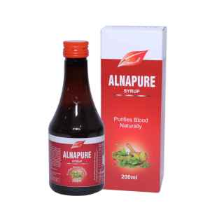 ALNAVEDIC ALNA PURE SYRUP FOR BLOOD PURIFYING & CLEANS BLOOD