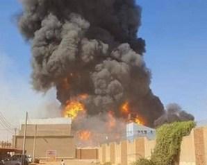7 وفيات و84 مصابا جراء حريق مصنع الخرطوم