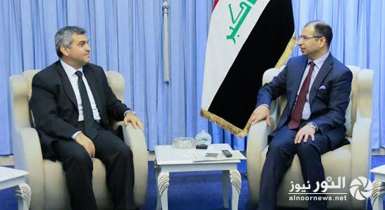 الجبوري والسفير التركي يبحثان دعم العراق إقتصادياً وإغاثياً