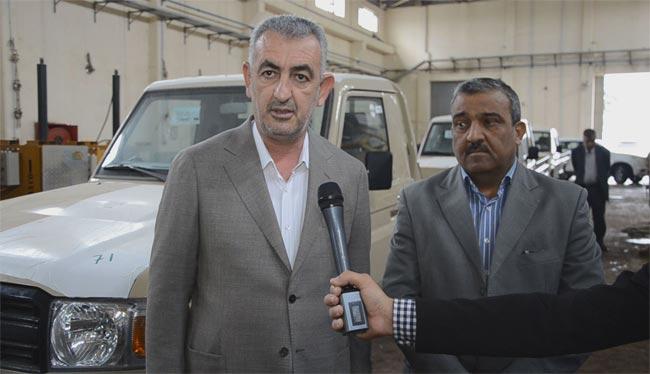 محافظ الانبار يجهز مقاتلي الحشد العشائري بالوجبة الأولى من سيارات بيك آب
