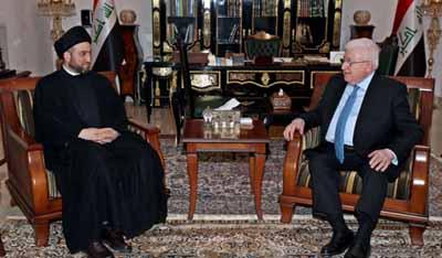 معصوم يبحث مع الحكيم استفتاء كردستان والمشاكل العالقة بين بغداد وأربيل