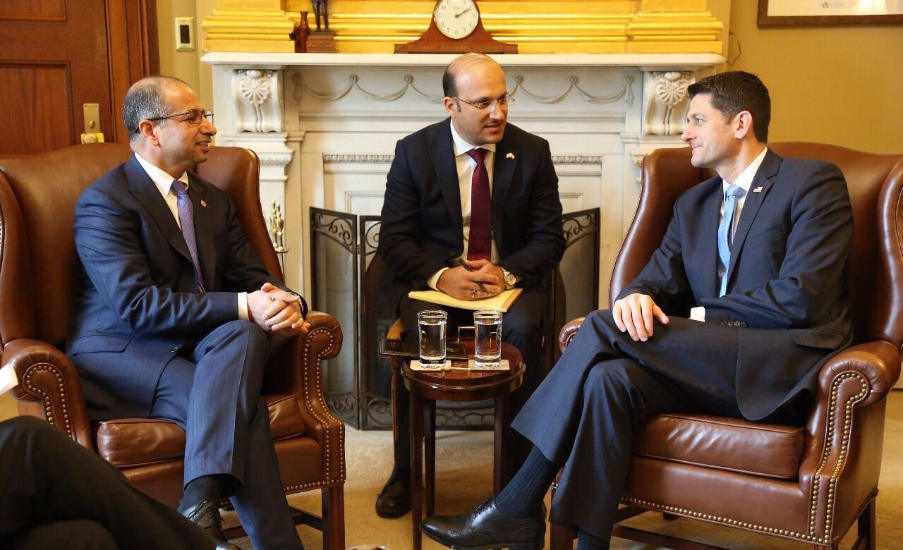 الجبوري ورايان يبحثان سبل التعاون الثنائي في مجال مكافحة الارهاب ودعم العراق لمواجهة التحديات