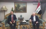 رئيس الجمهورية يلتقي فؤاد معصوم ويشدد على نبذ الخلافات السياسية