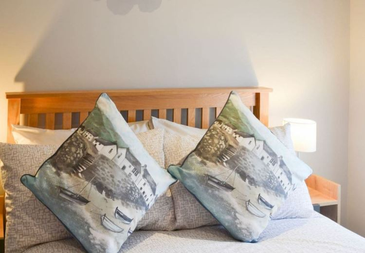 Double bed and comfy cushions