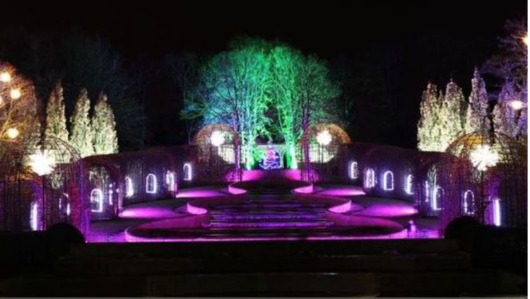 Christmas Lights at Alnwick Castle Garden