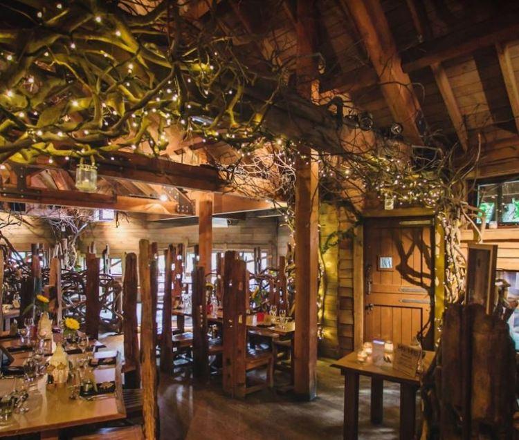Inside the Tree House Restaurant