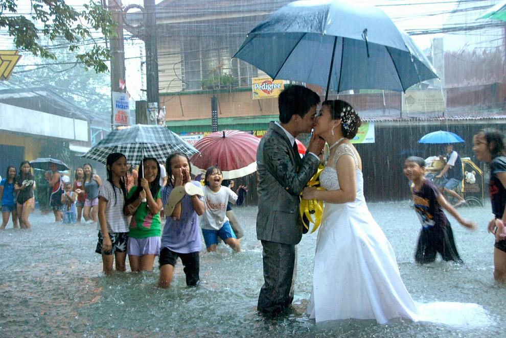 წყალდიდობა და ქორწილი ფილიპინებში