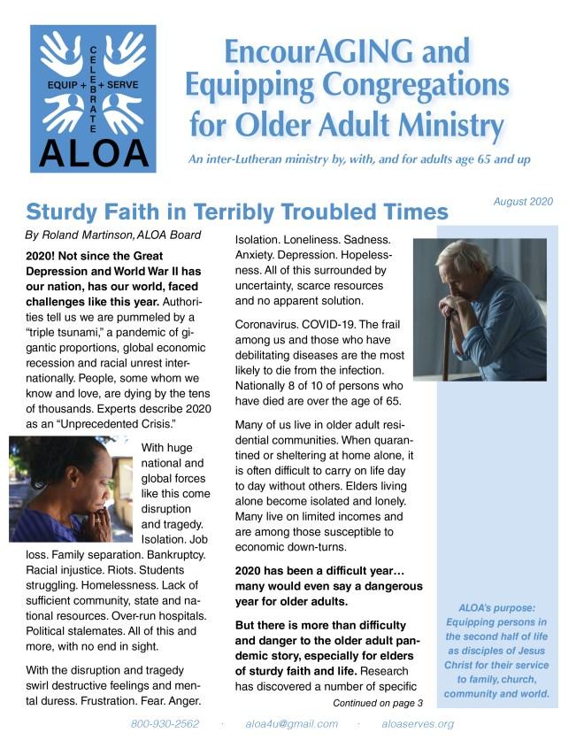 August newsletter cover