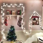 Because id like Kim to love Christmas as much as her daddy and I do, I decorated her bedroom with her own Christmas tree and Christmas lights