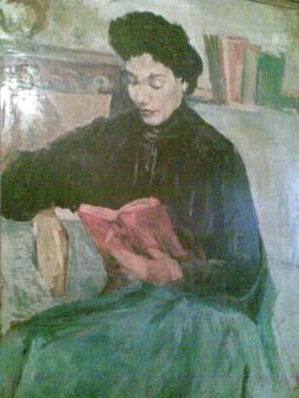 لوحة زيتية للكاتبة فوزية مهران