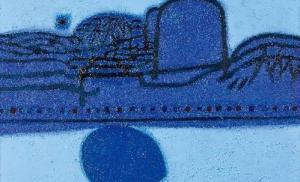 """لوحة تجريدية """"نجمة الصباح""""  للفنان الكورى كيم  هوان كى تباع ب 4 مليارات وون"""