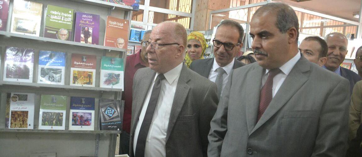 النمنم والحاج والشوكى فى افتتاح معرض الكتاب بجامعة الأزهر