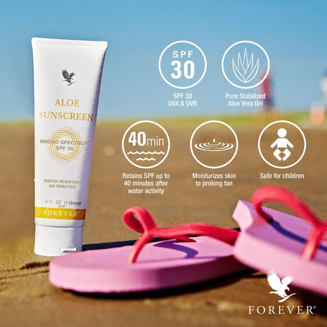 forever aloe sunscreen, crème solaire aloe forever living products