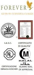 certificazione dell'aloe vera forever living