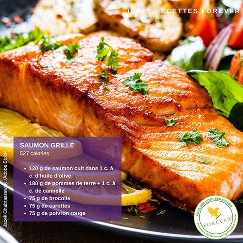 recettes régime saumon grillé C9 forever