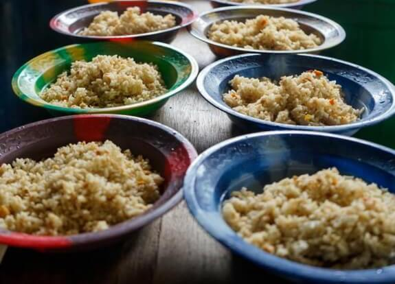 porcije hrane sa rižom