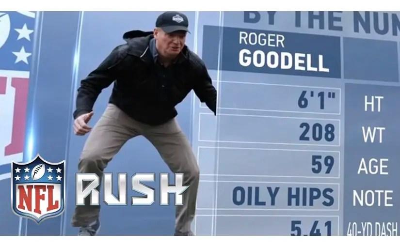 NFLコミッショナーのロジャー・グッデルが40ヤード走の記録を樹立