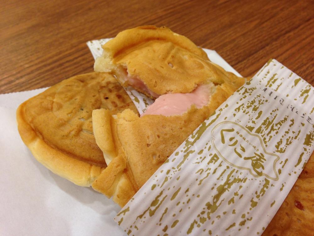 神楽坂グルメ(神楽坂たい焼き くりこ庵)いちごクリーム