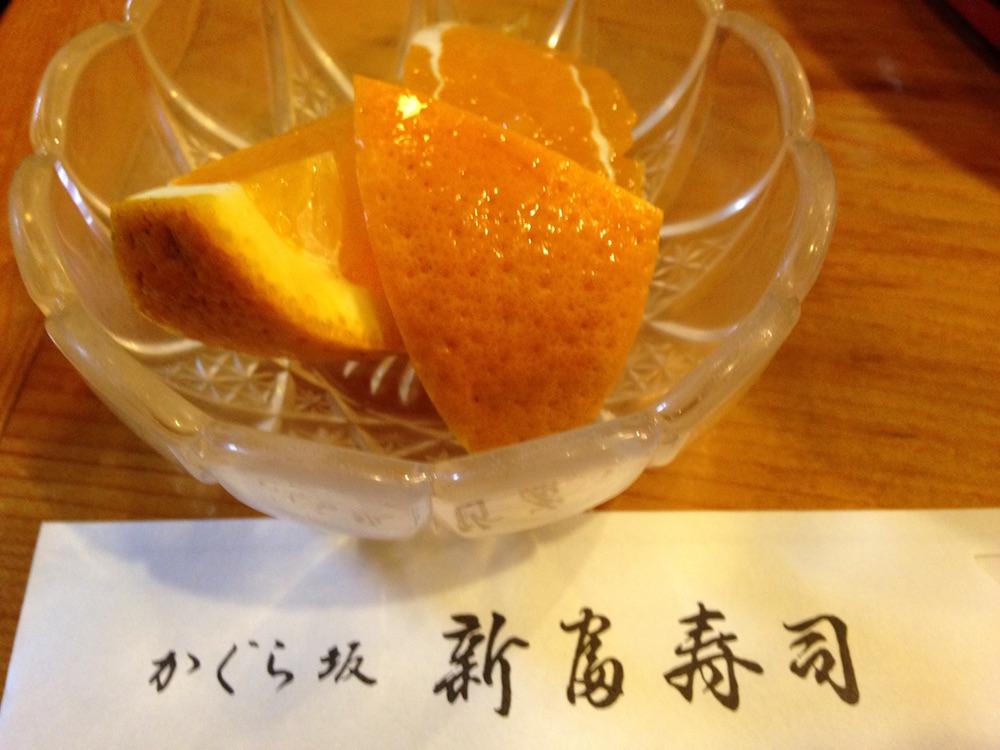 神楽坂ランチ(かぐら坂新富寿司)デザート