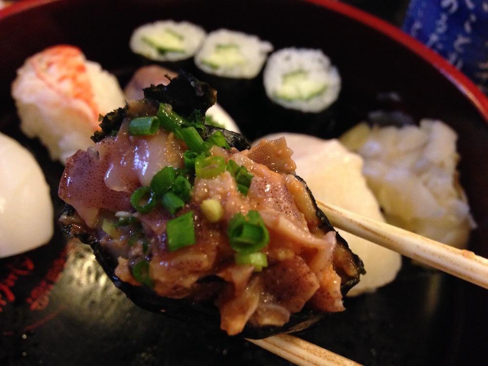 神楽坂ランチ(かぐら坂新富寿司)寿司3