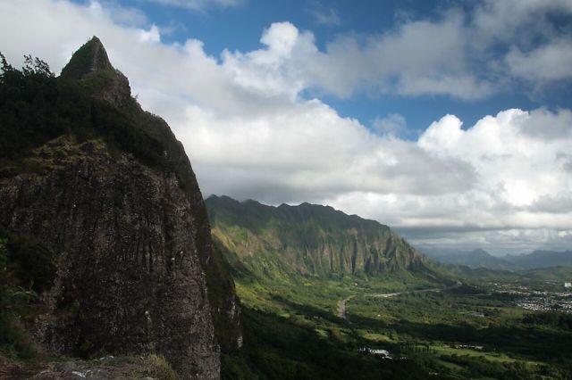 ハワイのヌウアヌ・パリ展望台
