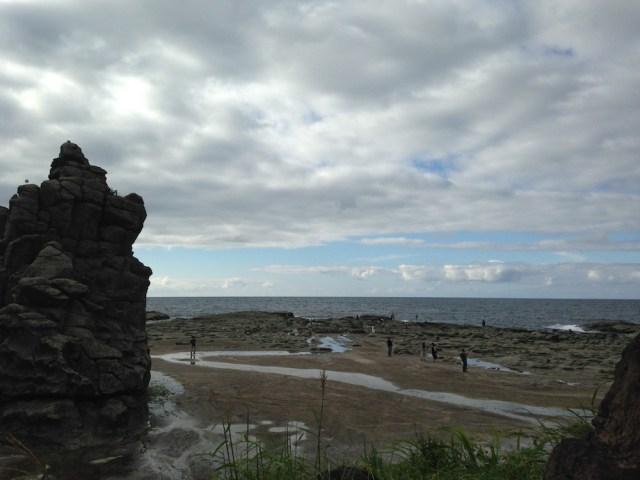 五能線リゾートしらかみ(千畳敷海岸・奇岩1)