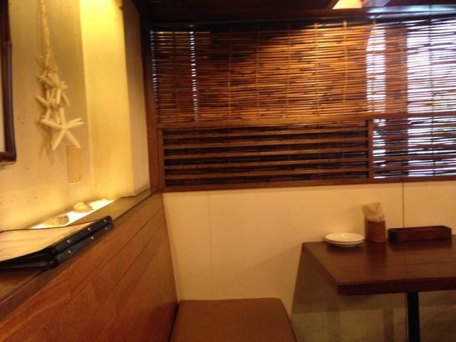 東京のハワイアンカフェ(ツナミ エビス トウキョウ・客席2)