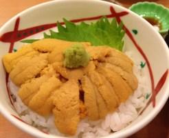 函館のグルメ(うにむらかみ・ウニ丼2)