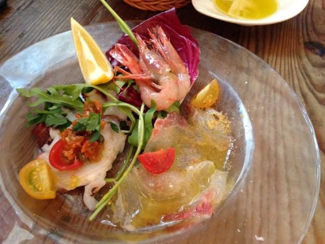 恵比寿のランチ(ヴァカンツァ・ランチの前菜)