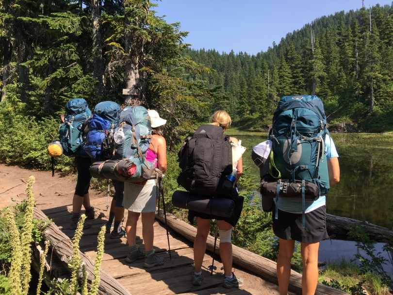 Full packs!  Size of backpack is important!