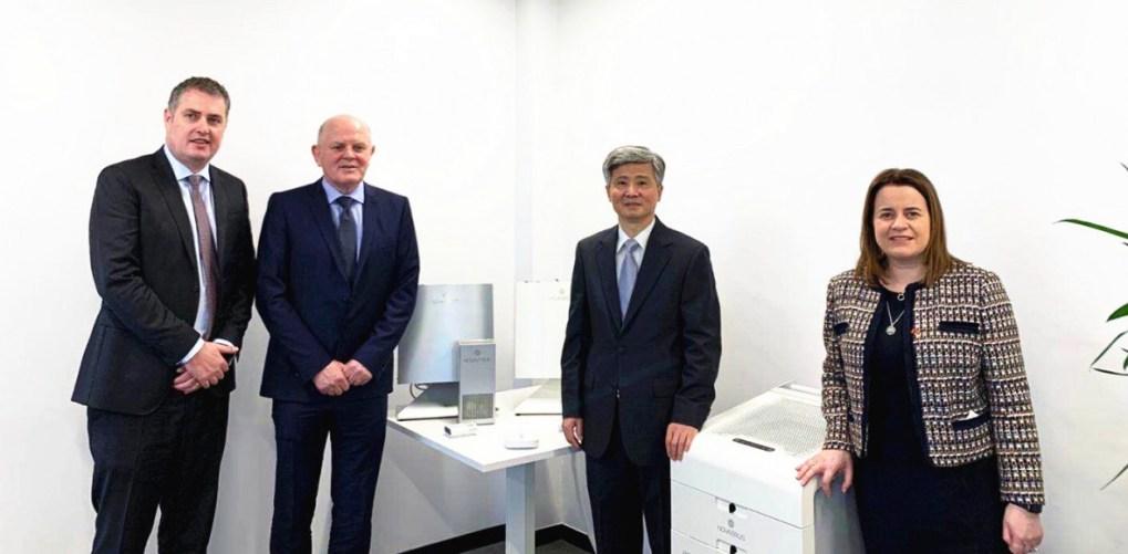Novaerus向中國駐愛爾蘭大使館何向東捐贈空氣消毒儀器協助中國武漢對抗新型肺炎