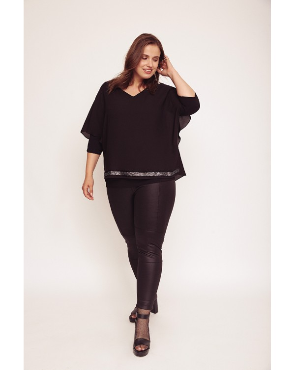 blusa lisa negro aloha moda