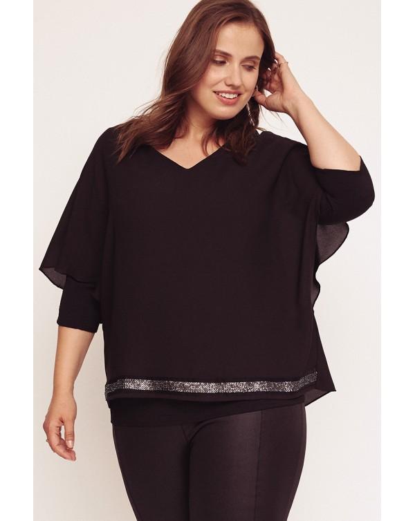 blusa capa negra curvy aloha moda
