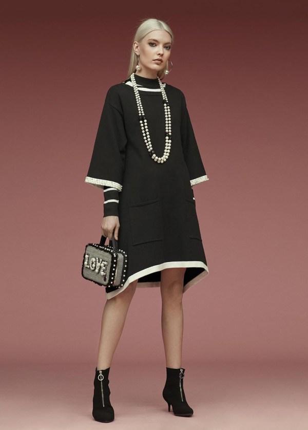 vestido perlas negro aloha moda