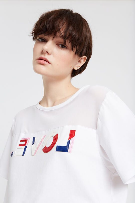 camiseta love desigual