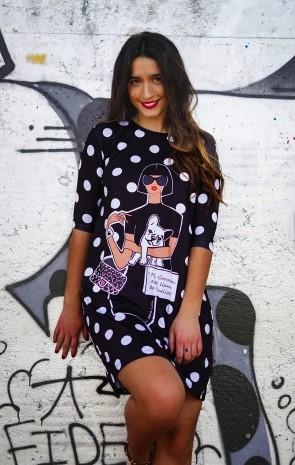 vestido la pantera lola huellas aloha moda punto de venta