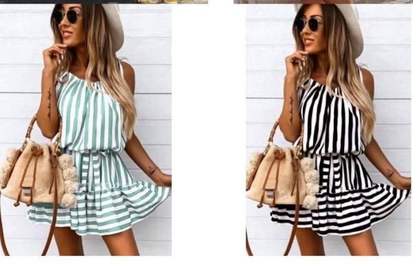 vestido rayas aloha low cost