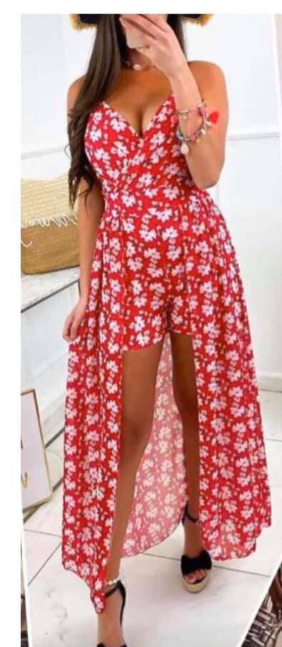 vestido pantalon floral aloha