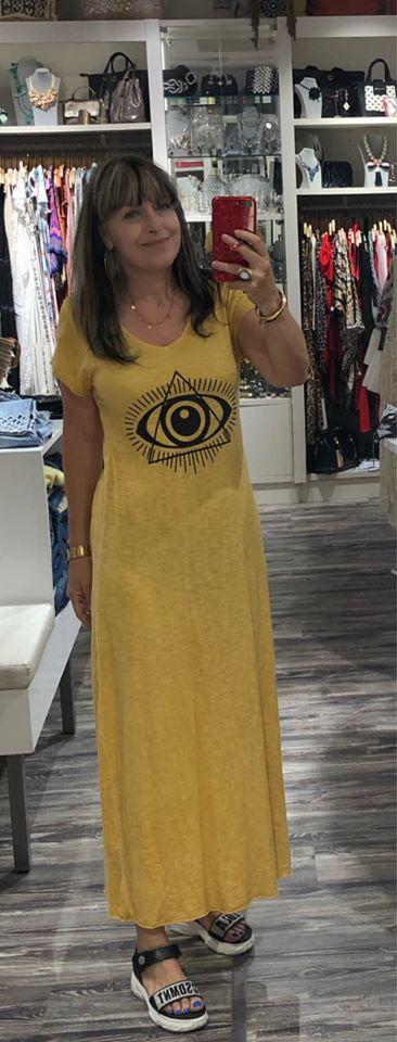 Vestido largo ojo algodón talla única Aloha.