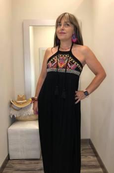 vestido largo bordado surkana