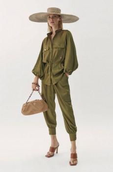 Camisa con mangas baloon estilo safari